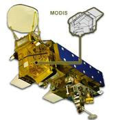 Spacecraft with MODIS instrument